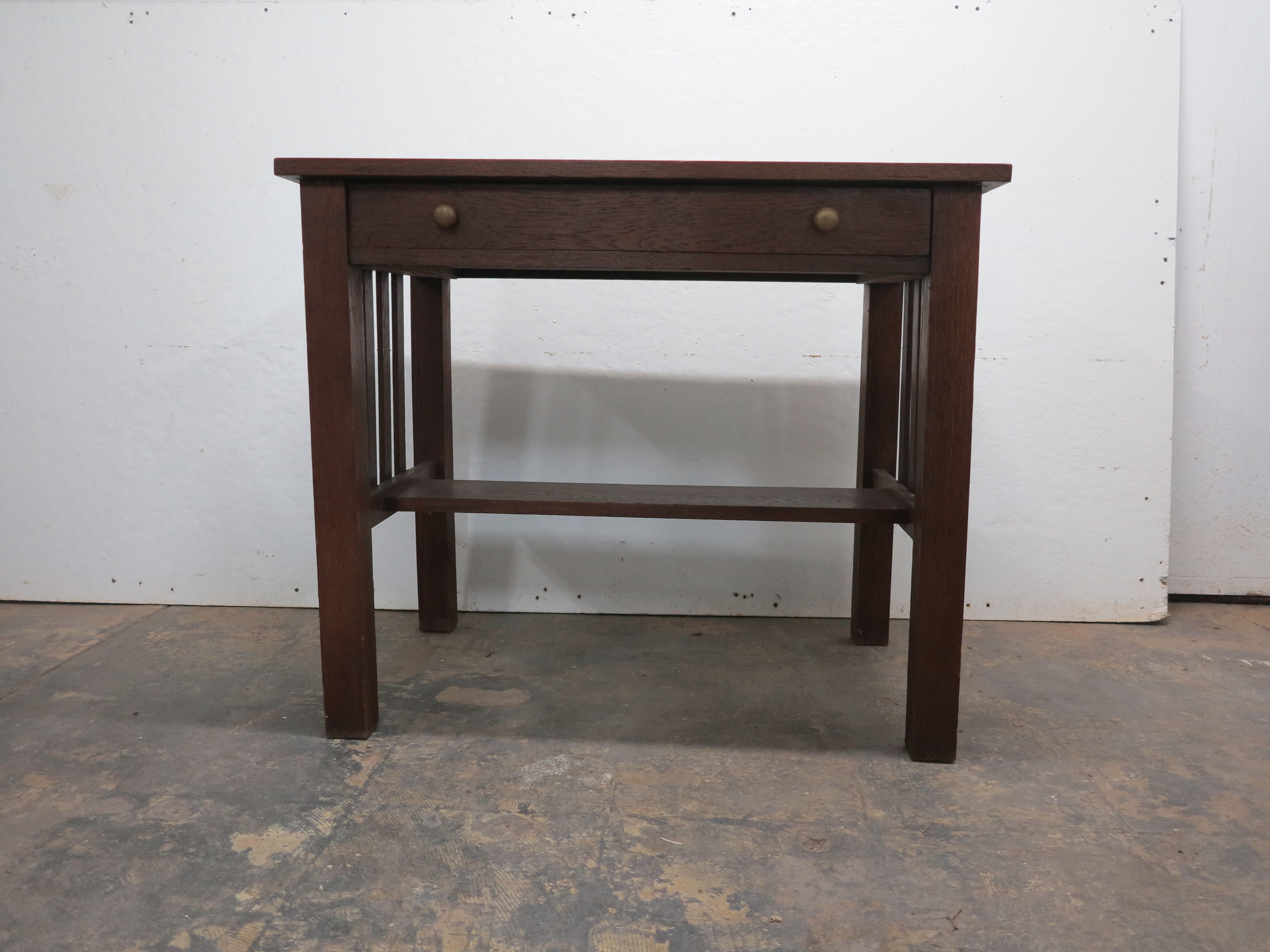 Antique Mission Arts & Crafts Style Library Desk