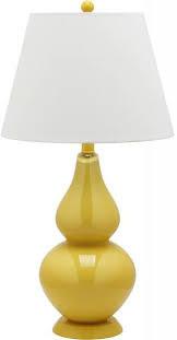Safavieh Lighting Cybil Double Gourd Yellow Table Lamps