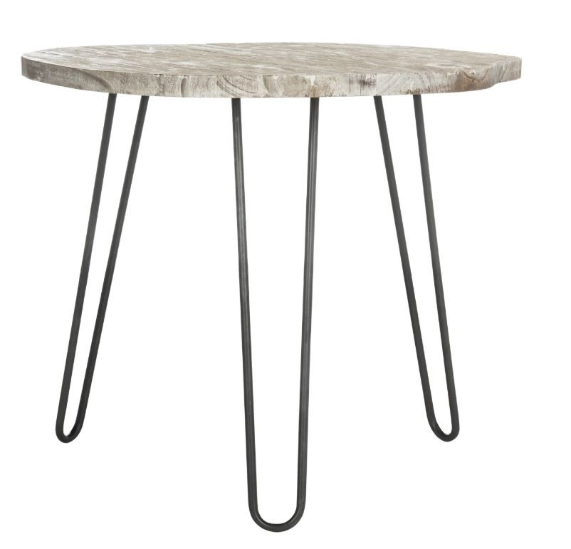 Safavieh Mindy Wood Top Grey/White Wash Dining Table