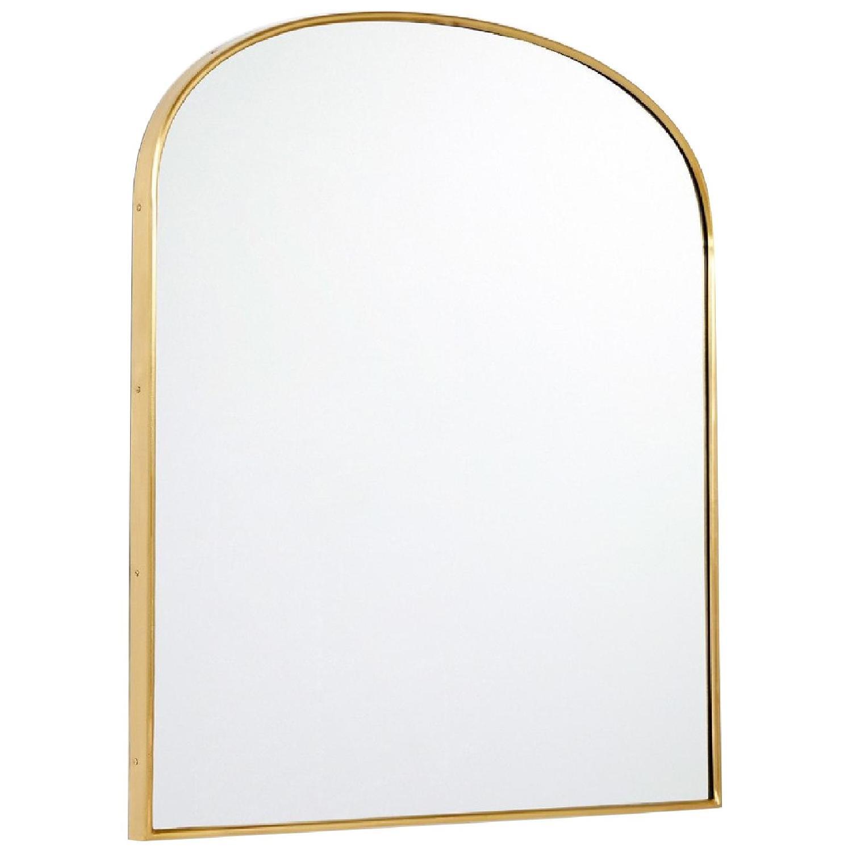 Rejuvenation Arched Mantel Metal Framed Mirror