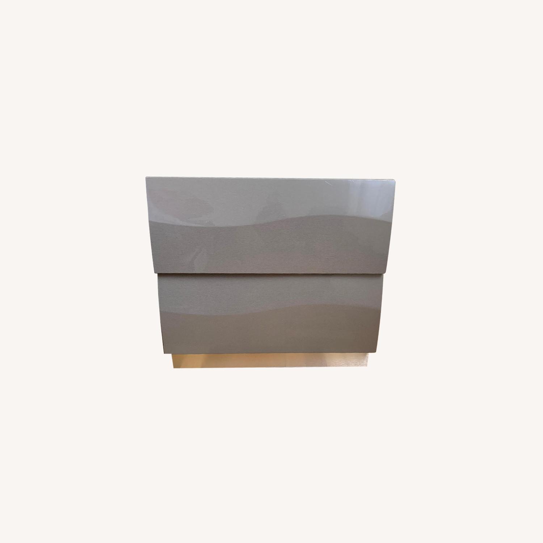Somette Delvin Gloss Grey 2-Drawer Nightstands