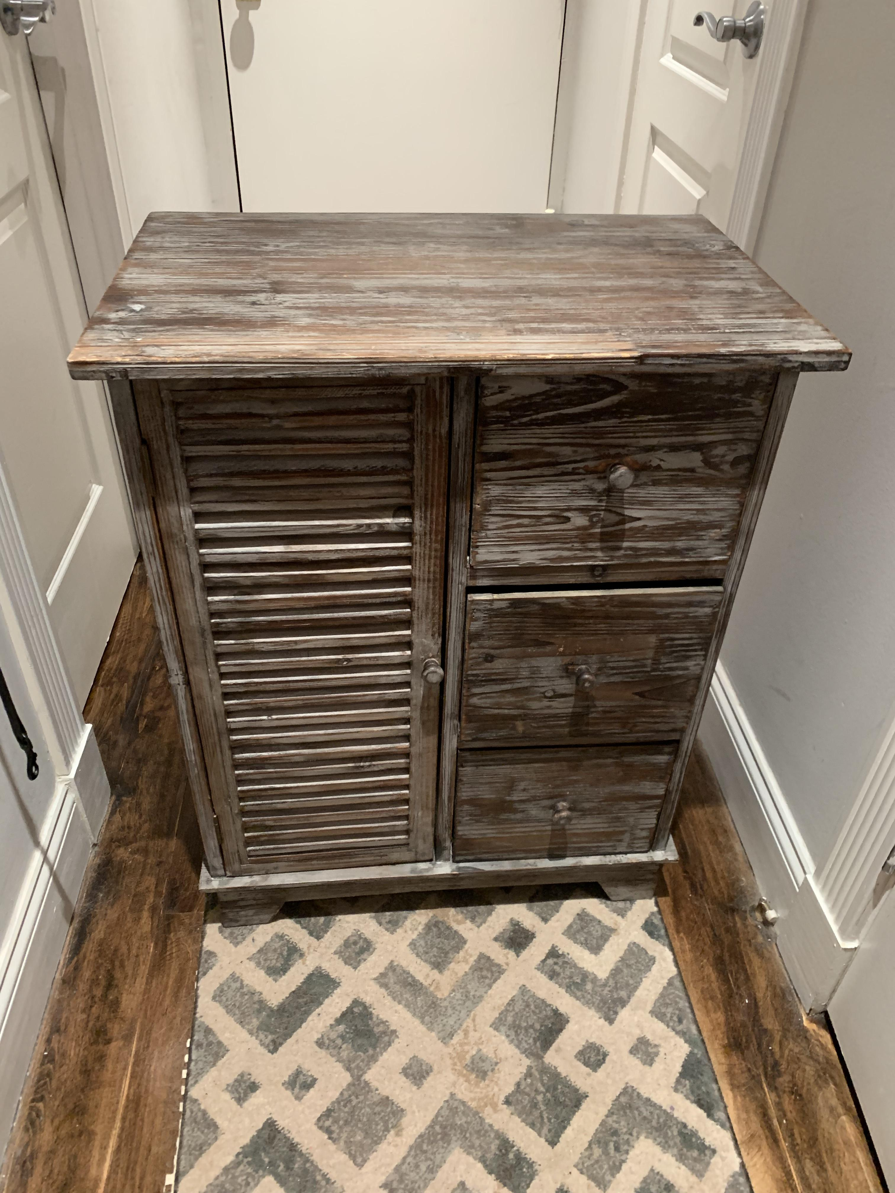 At Home Wood Nightstand