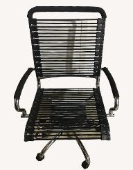 Office Chair w/ Bungee Seat & Stainless Steel Base