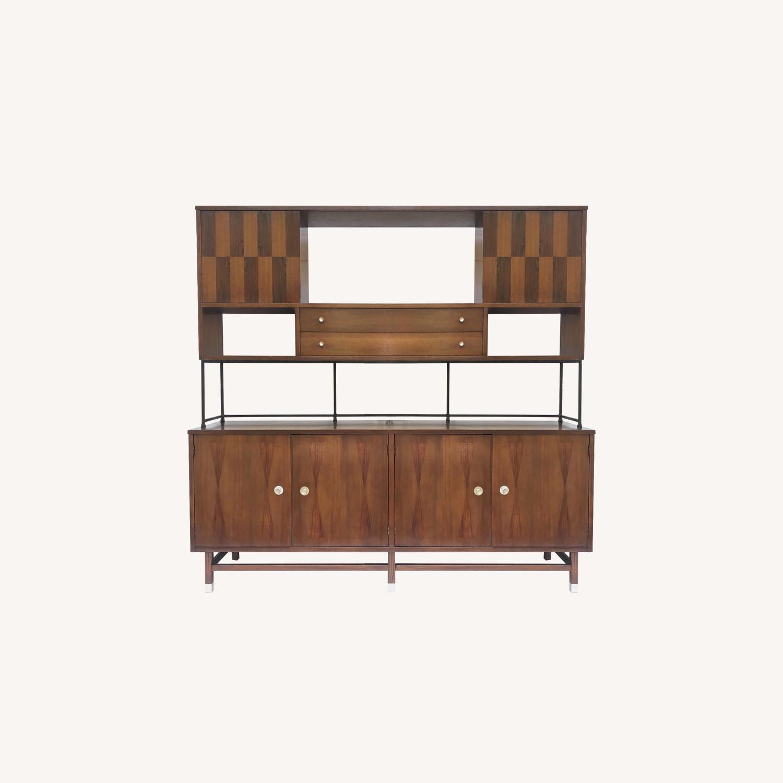 Stanley Furniture Mid-Century Breakfront w/ Hutch