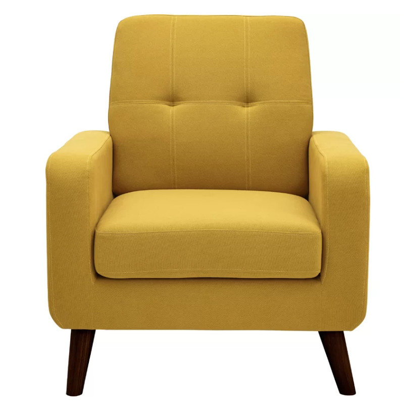 George Oliver Bumgarner Yellow Armchair