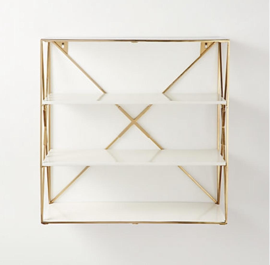 CB2 Smith Brass Wall Shelf