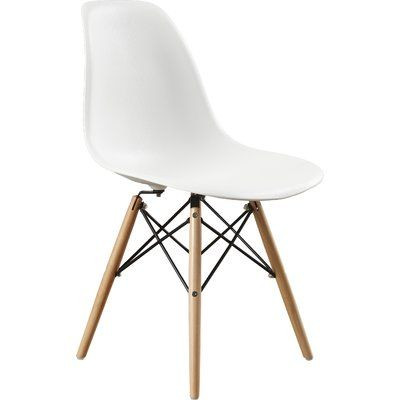 Wade Logan White Dining Chairs