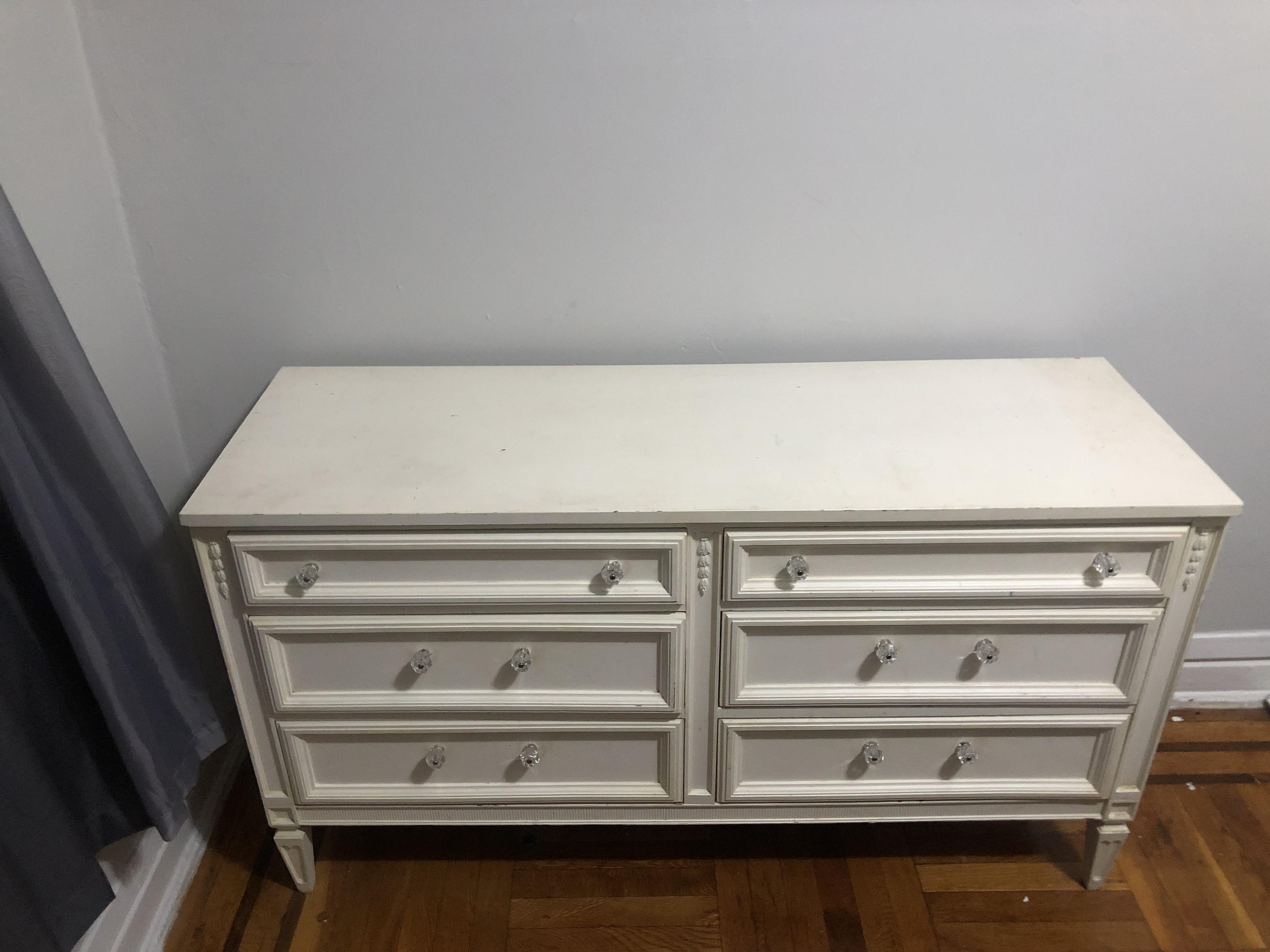 Vintage White Double Dresser