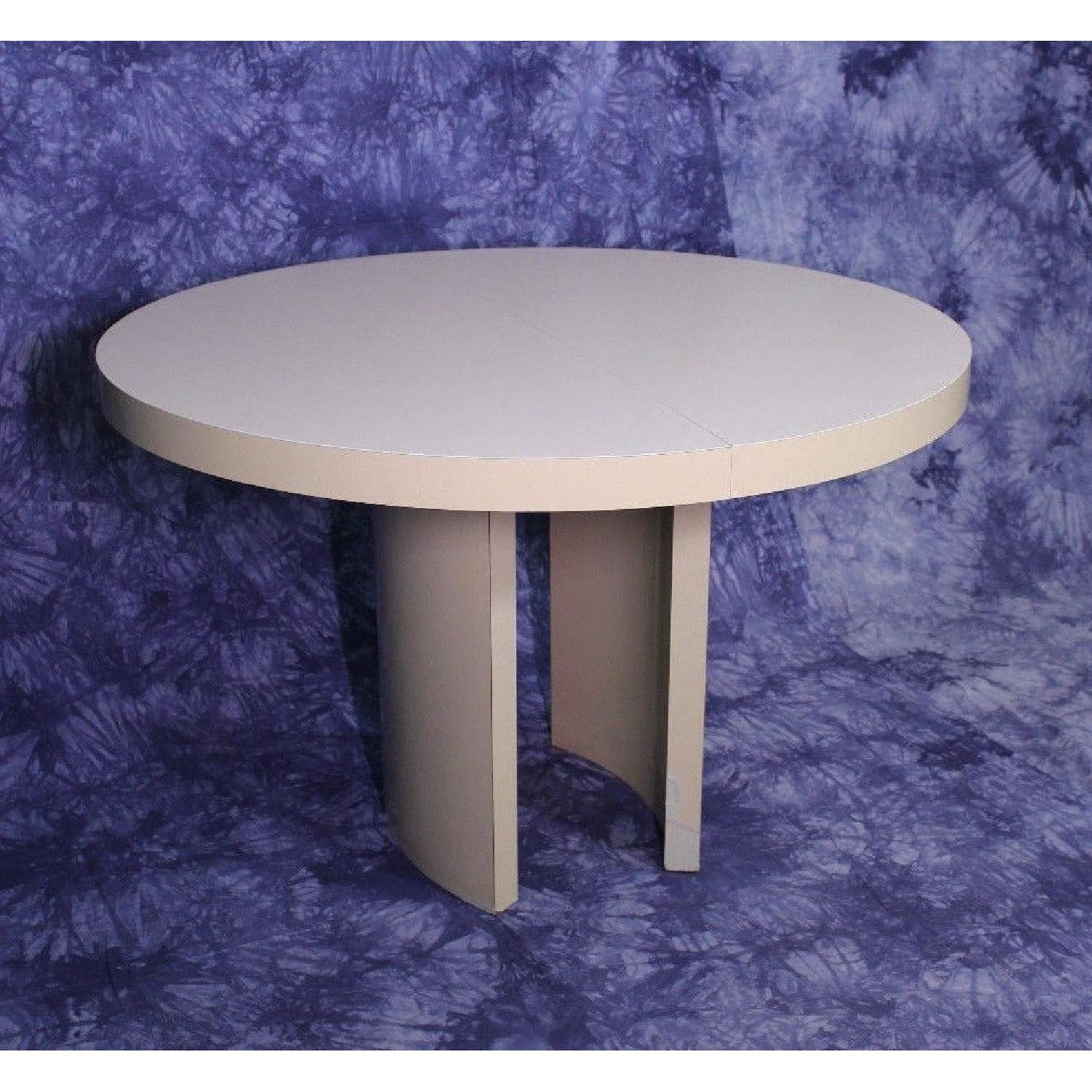 Mid Century Modern Round Formica Top Dining Table