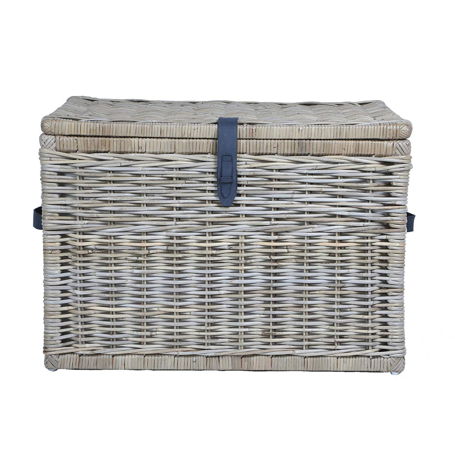 The Basket Lady Deep Kubu Wicker Storage Trunk
