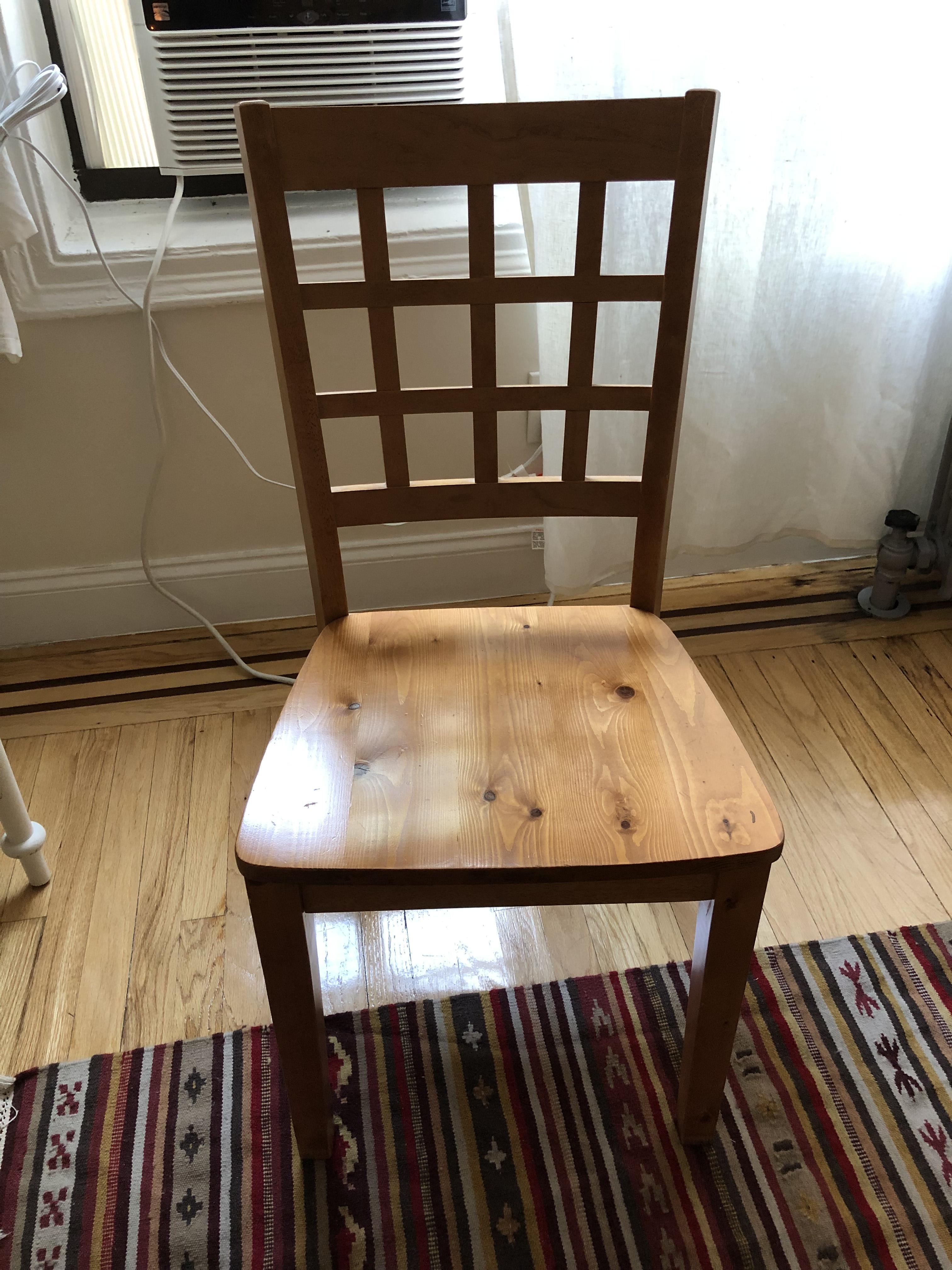 Wood Desk/Dining Chair