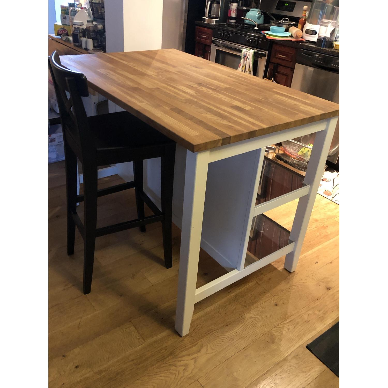 Ikea Kitchen Island w/ Storage Shelves