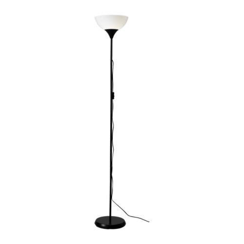 Ikea Floor Uplight Lamps in Black/White
