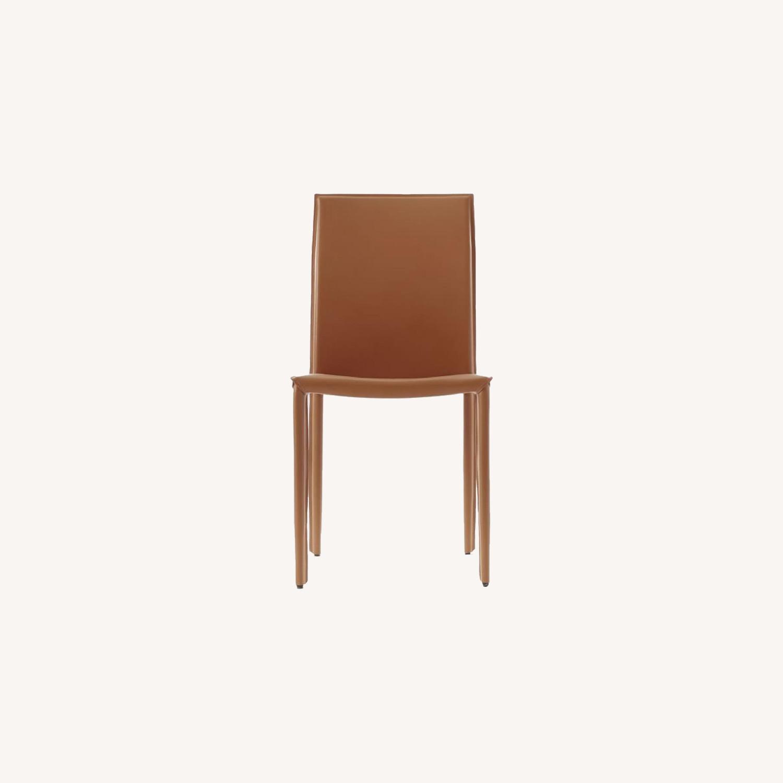 West Elm Lex Dining Cognac Chair