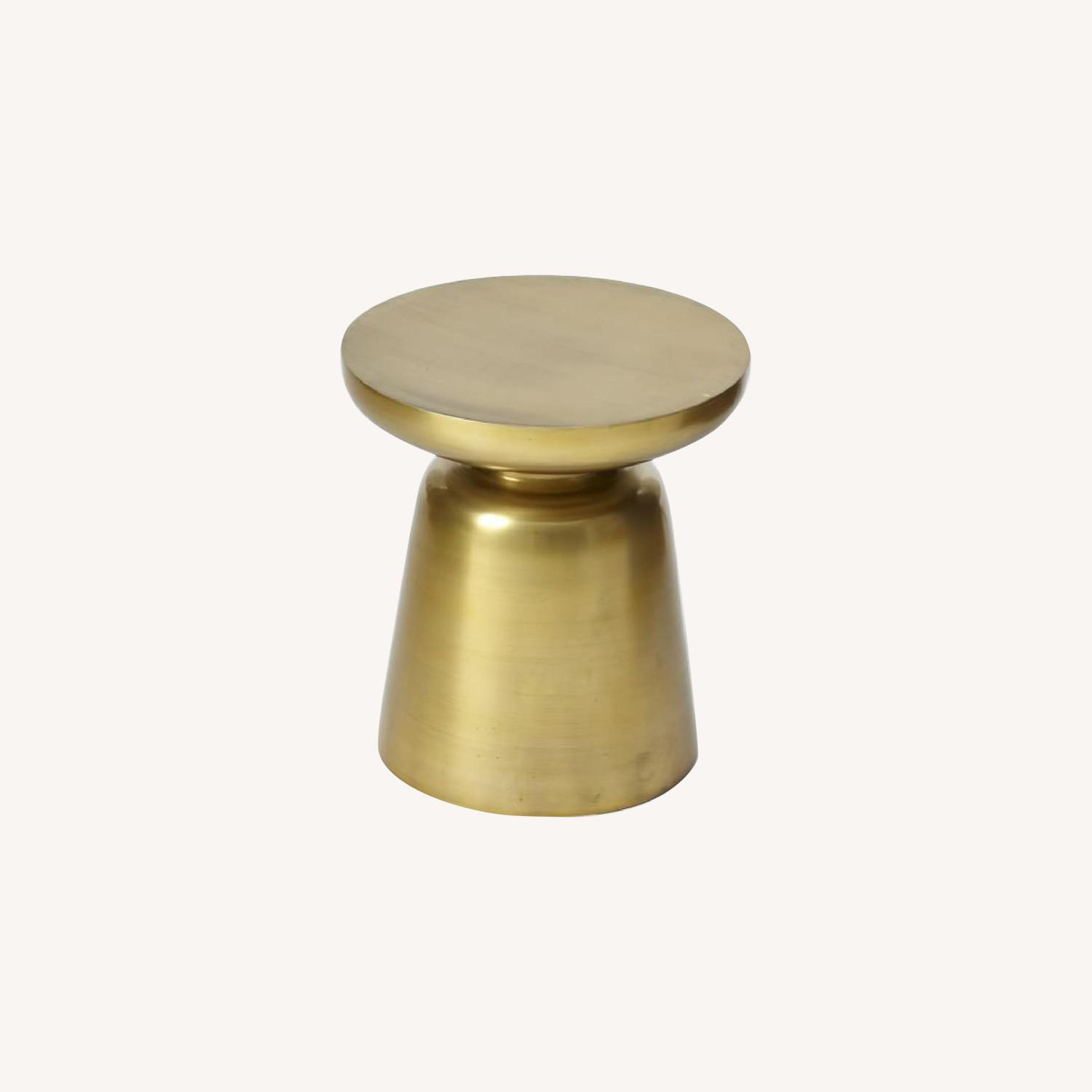 West Elm Martini Side Table Antique Brass Aptdeco