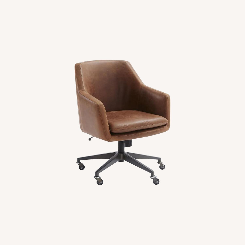 West Elm Helvetica Desk Chair-Molasses