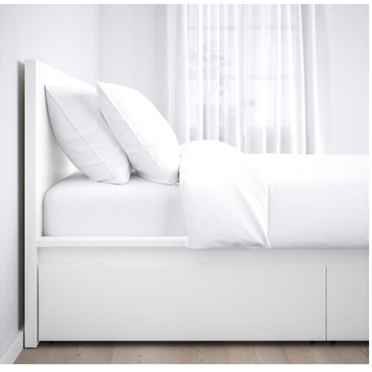 Prime Ikea Malm Full Size White Storage Bed Aptdeco Pabps2019 Chair Design Images Pabps2019Com