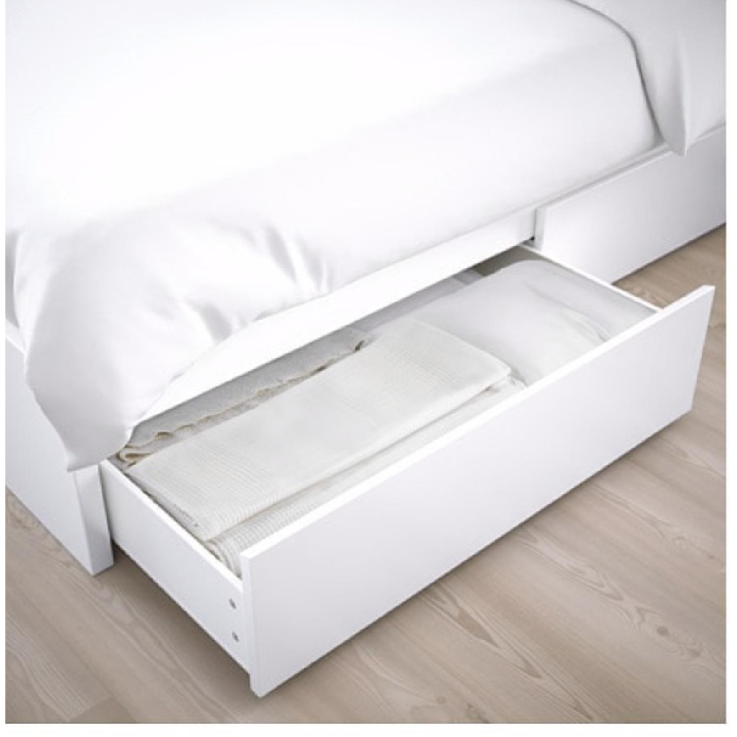 Outstanding Ikea Malm Full Size White Storage Bed Aptdeco Pabps2019 Chair Design Images Pabps2019Com