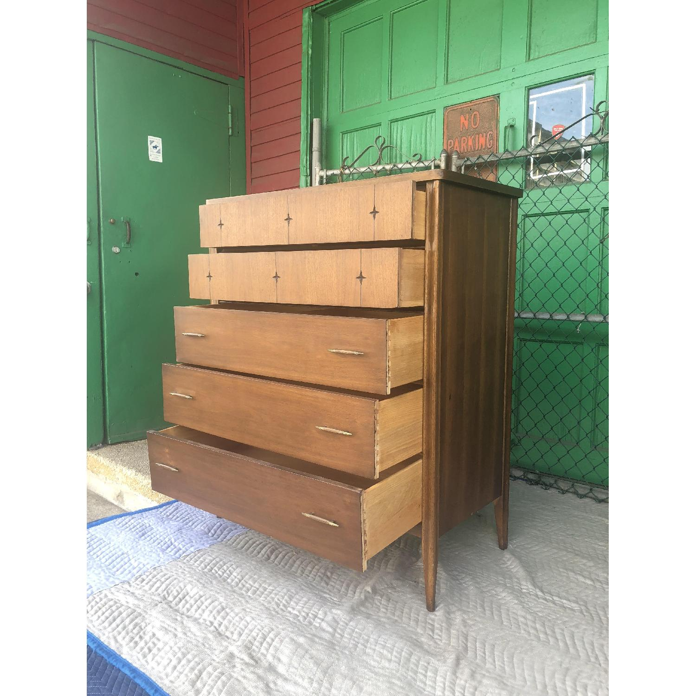 Broyhill Saga Mid Century Walnut Highboy Dresser - image-2