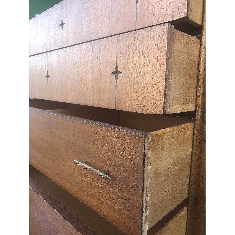 Broyhill Saga Mid Century Walnut Highboy Dresser - image-4