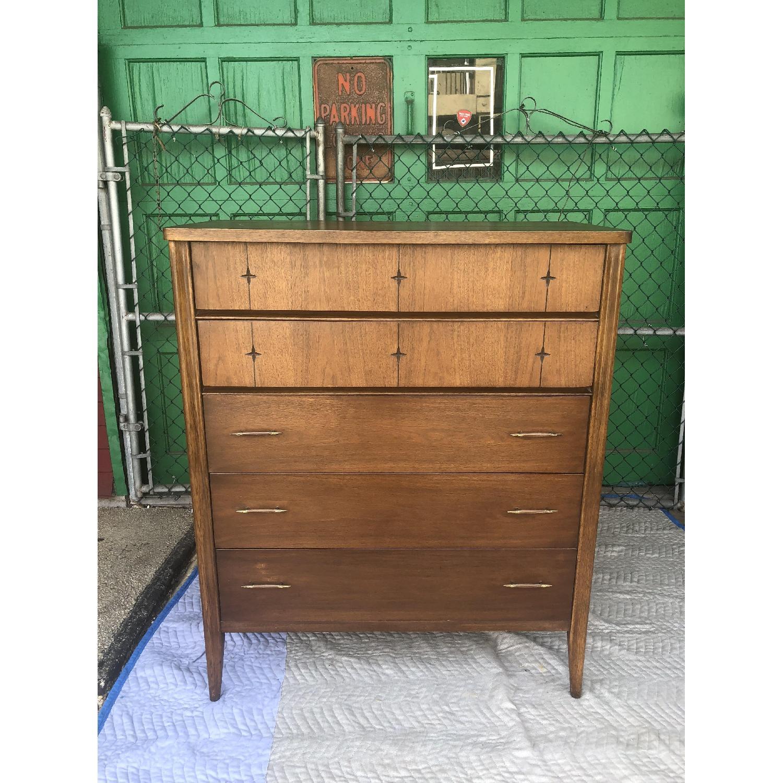 Broyhill Saga Mid Century Walnut Highboy Dresser - image-6