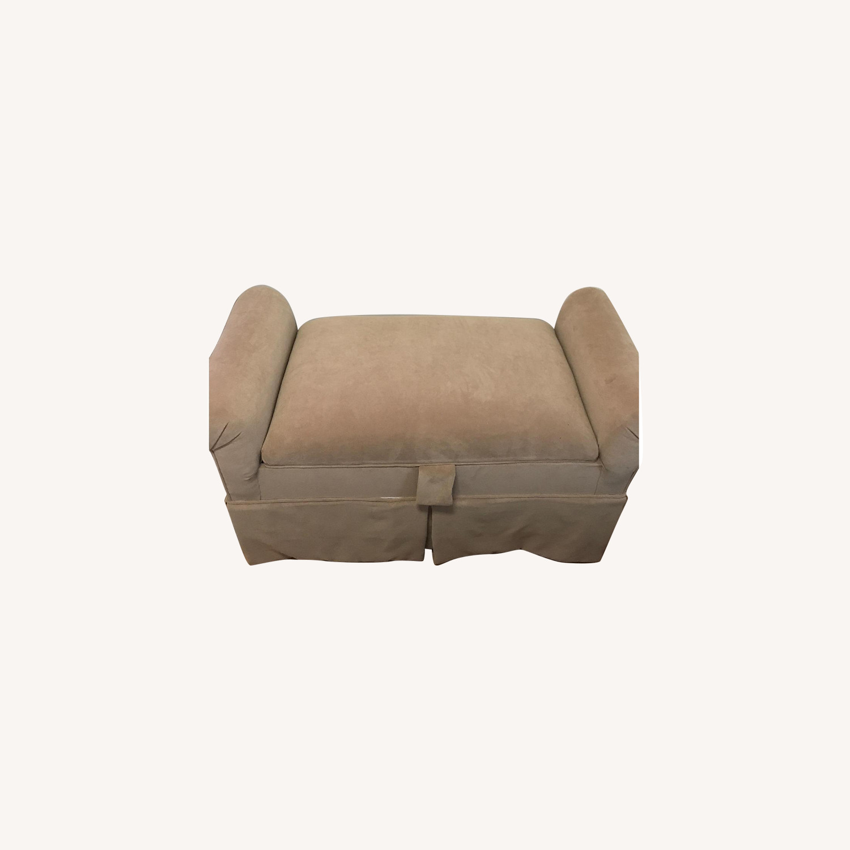 Suede Storage Bench