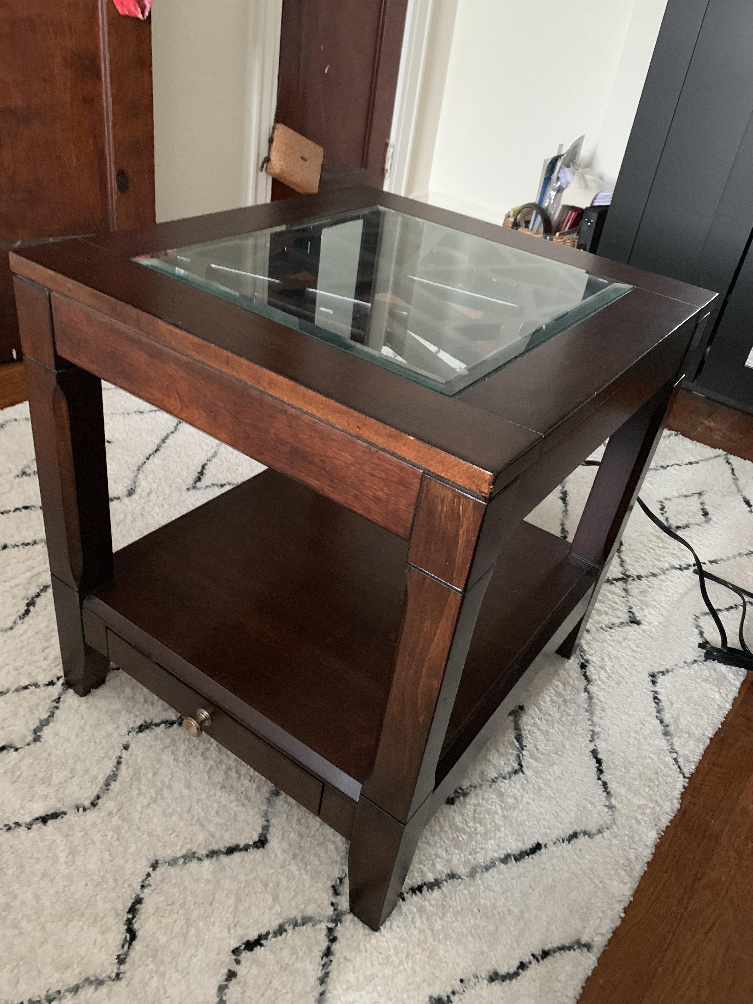 Aspen Home Coffee Table.Aspen Home Wood Side Table Aptdeco