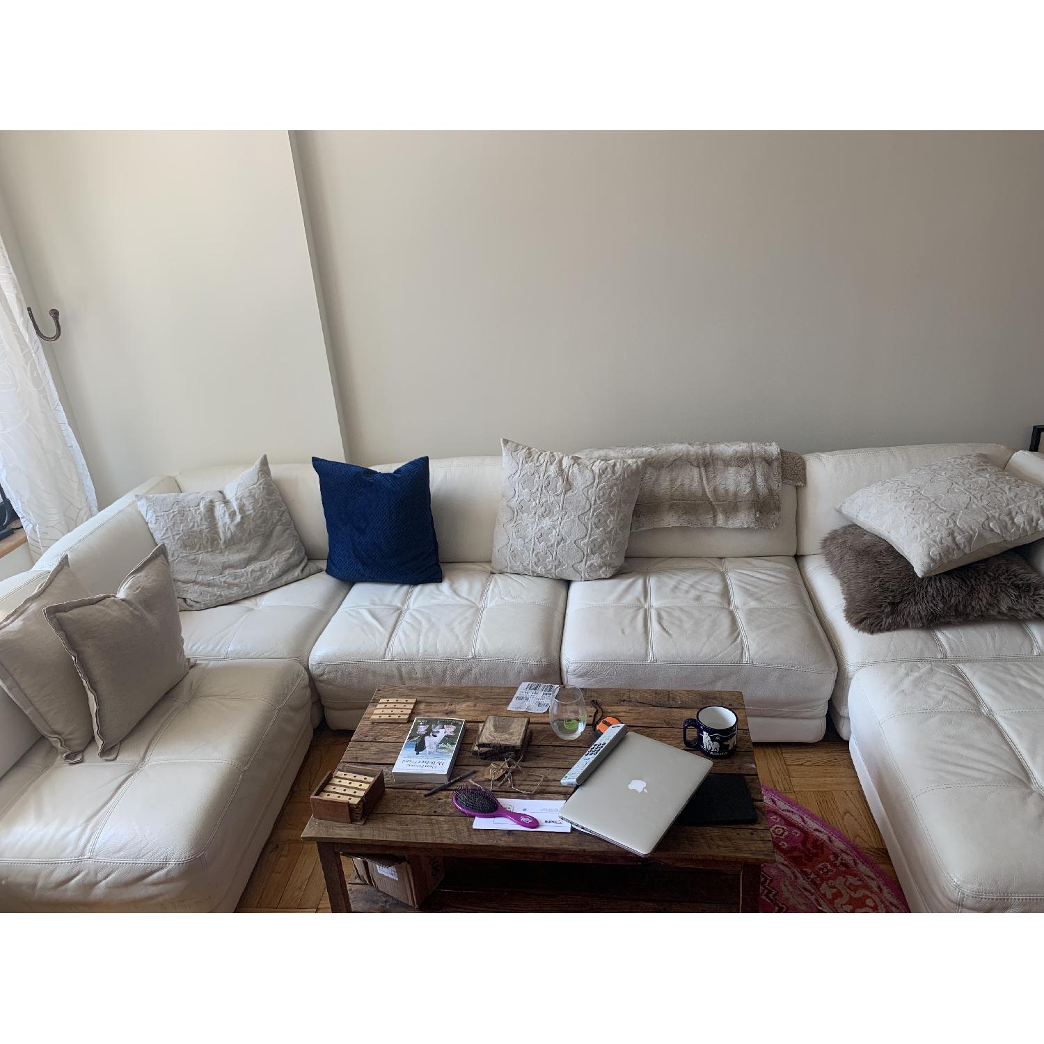 Sensational Chateau Dax White Tufted Leather 6 Piece Sectional Sofa Unemploymentrelief Wooden Chair Designs For Living Room Unemploymentrelieforg