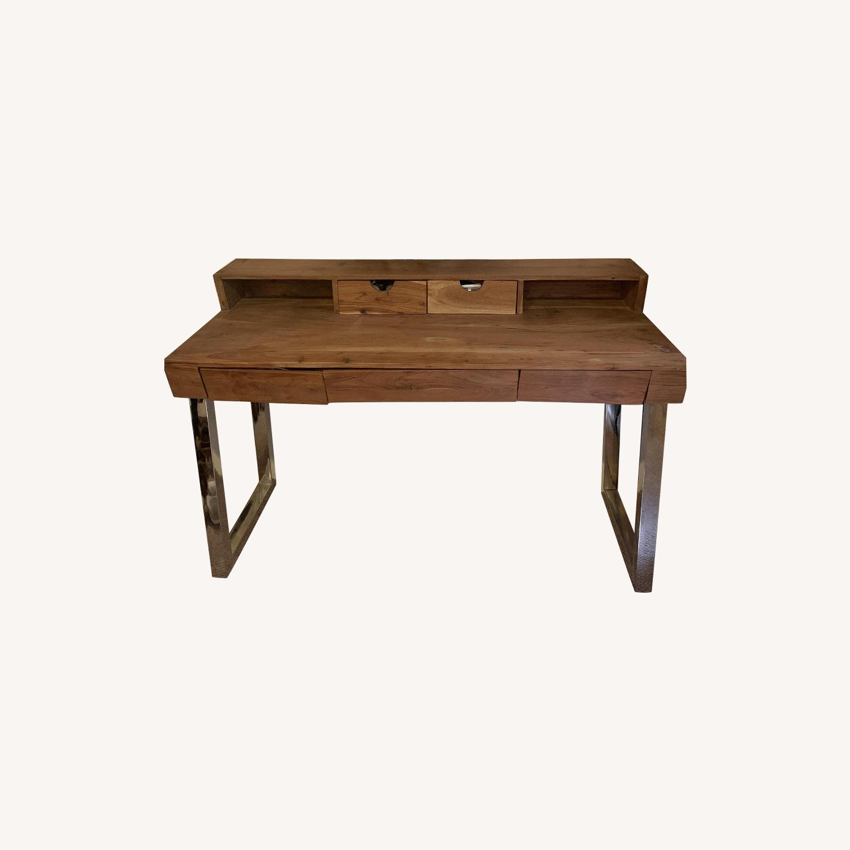 Four Hands Solid Wood Tier Desk - image-0
