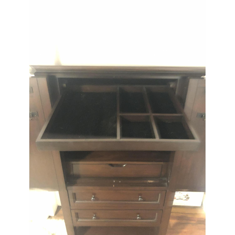 Pottery Barn Jewelry Cabinet Armoire - AptDeco