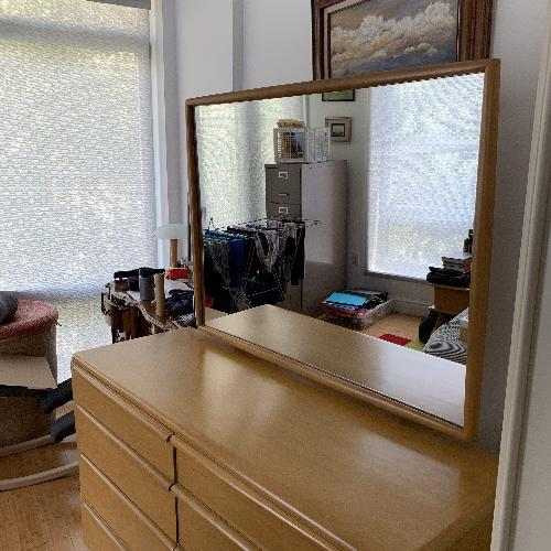 Original Mid Century Heywood Wakefield Dresser w/ Mirror