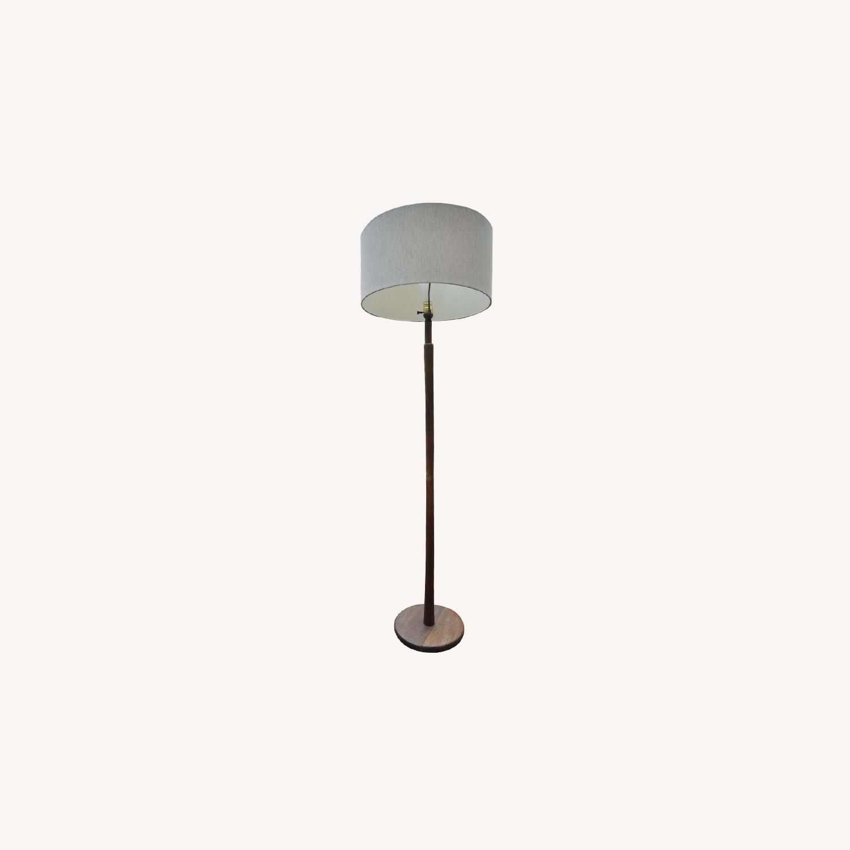 Vintage Mid Century Wood Floor Lamp