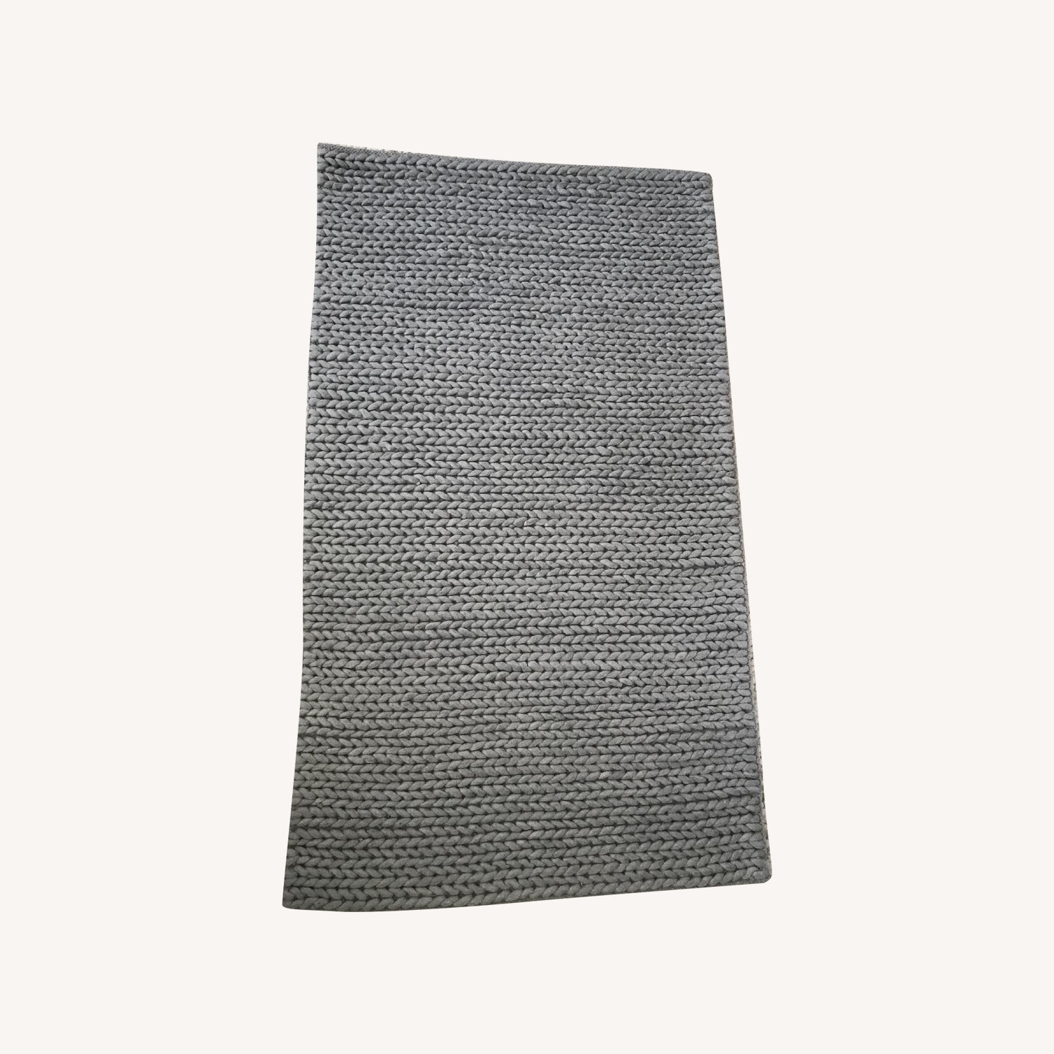 Gray Braided Wool Rug