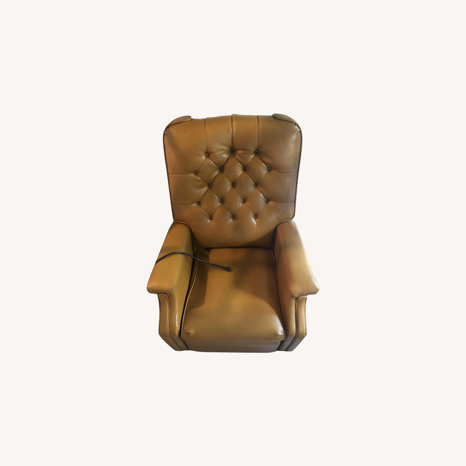Leather Push Back Recliner by Futorian Manufacturing Corp.
