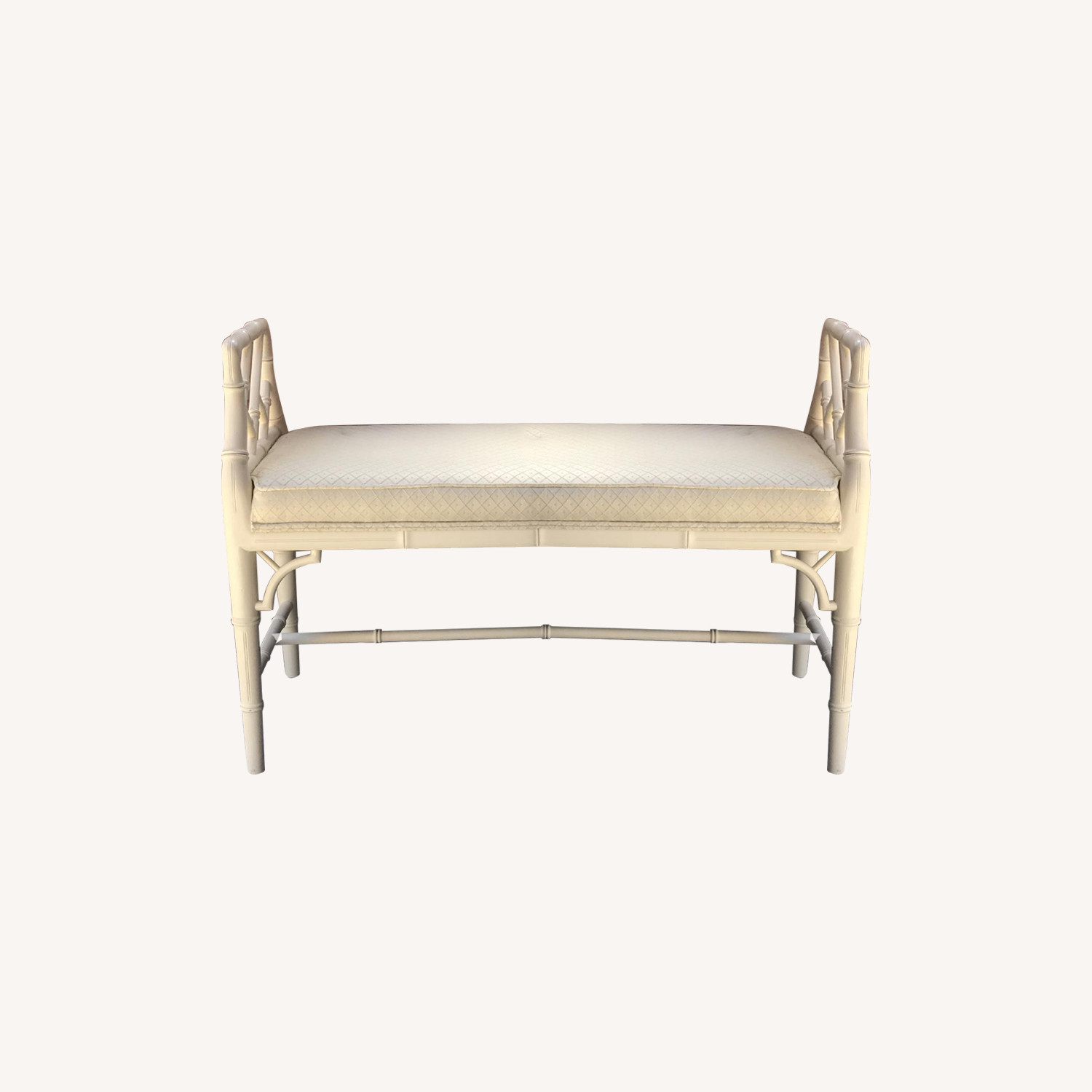 Faux bamboo bench - vintage Century Furniture