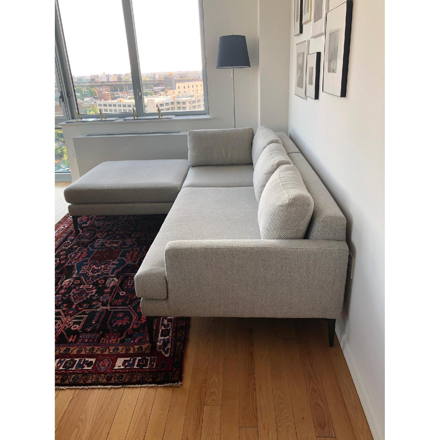 Pleasant West Elm Grey Tweed Andes Sectional Sofa Aptdeco Alphanode Cool Chair Designs And Ideas Alphanodeonline