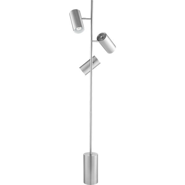 CB2 Trio Brushed Nickel Floor Lamp