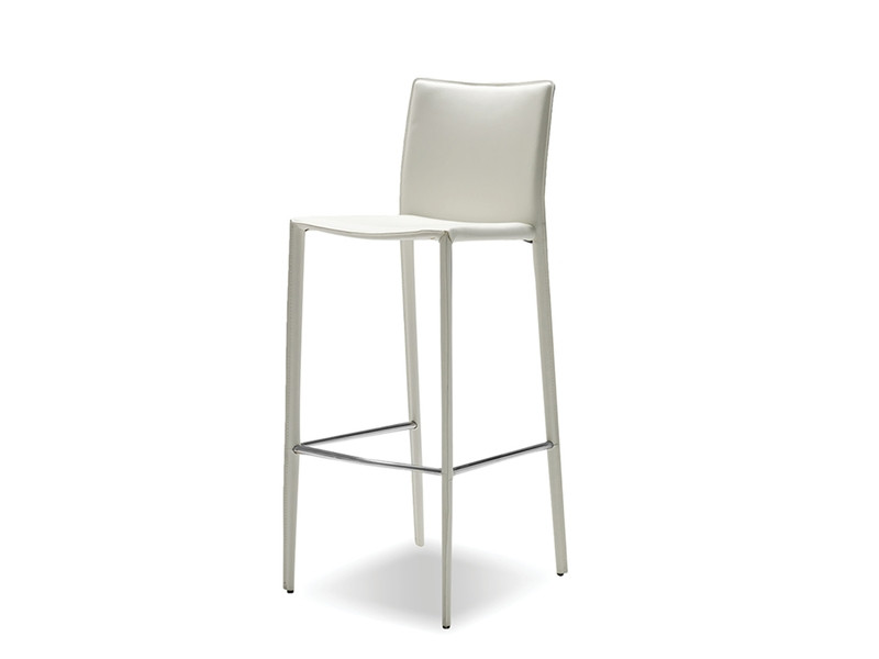 Mobital White Leather Stools