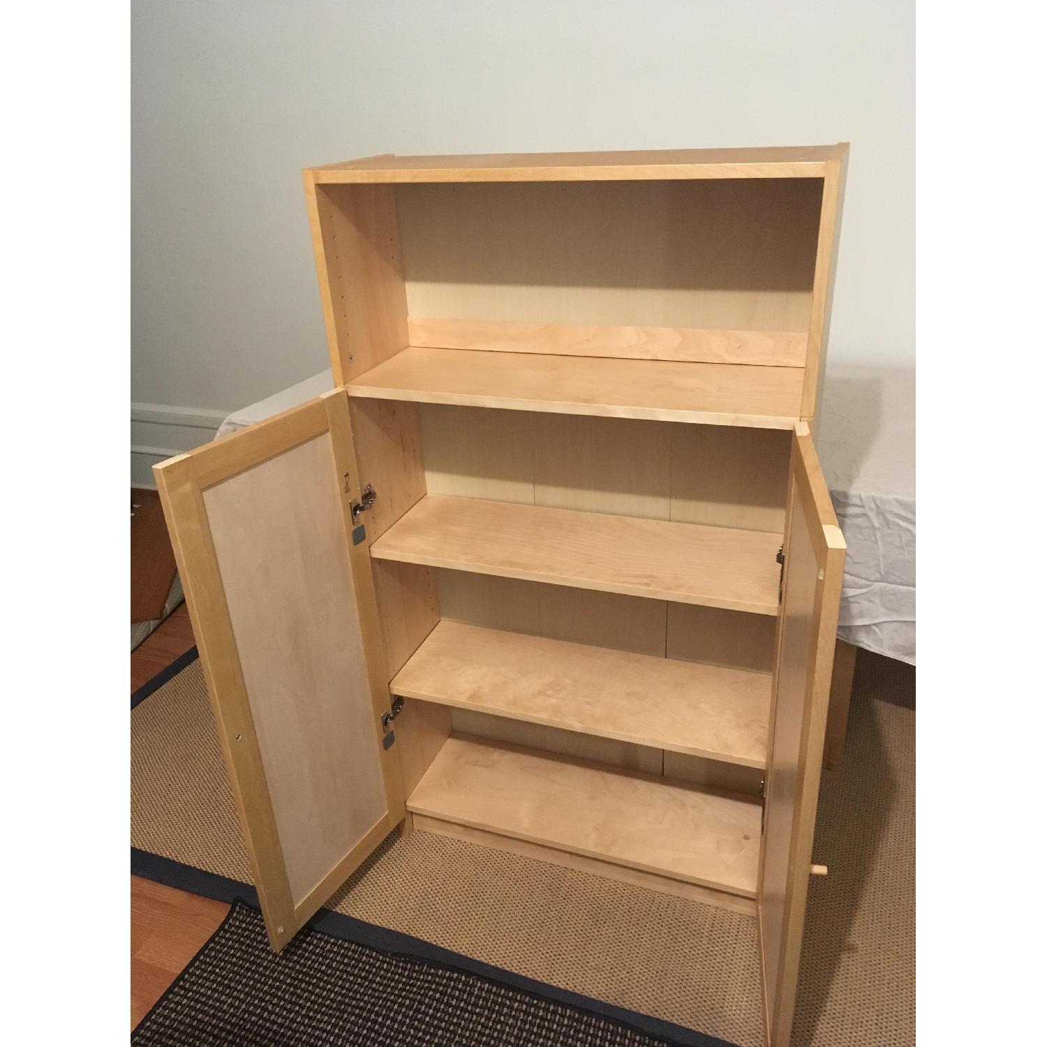 Ikea Billy Bookcase W Doors Height Extender