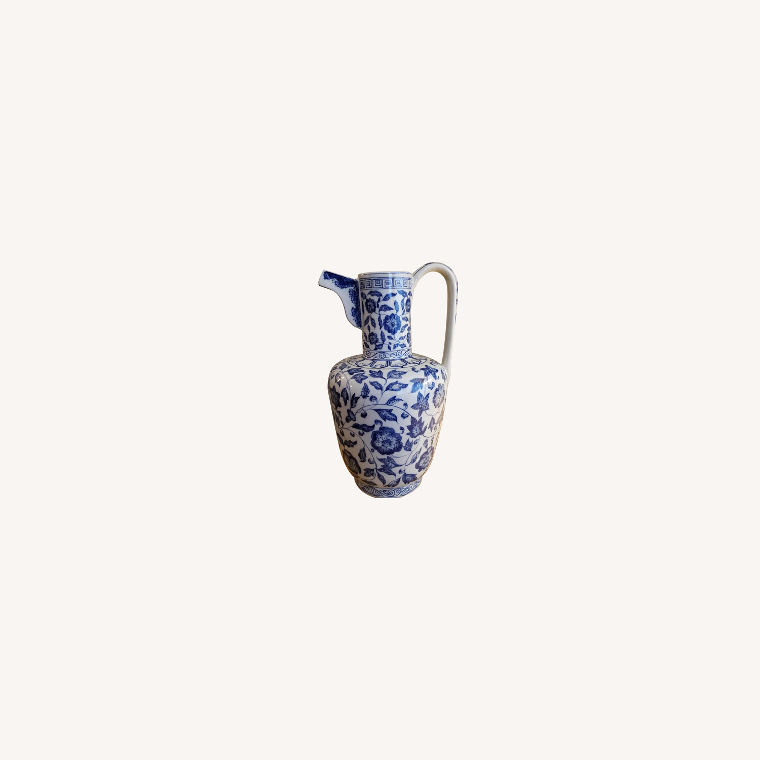 Blue & White Chinese Pitcher