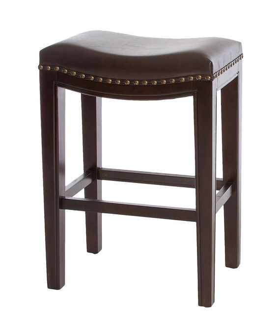 Darby Home Co. Garry Dark Brown Faux Leather Bar Stools