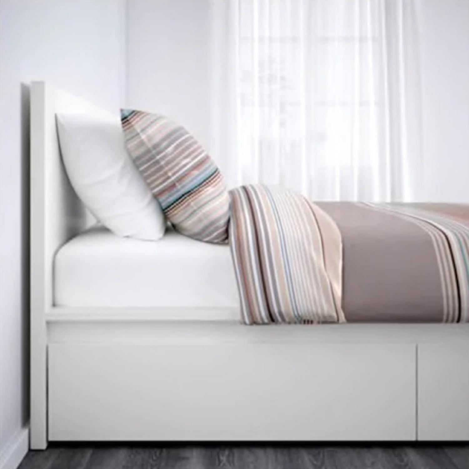 Swell Ikea Malm Bed Frame W Storage Drawers Aptdeco Creativecarmelina Interior Chair Design Creativecarmelinacom