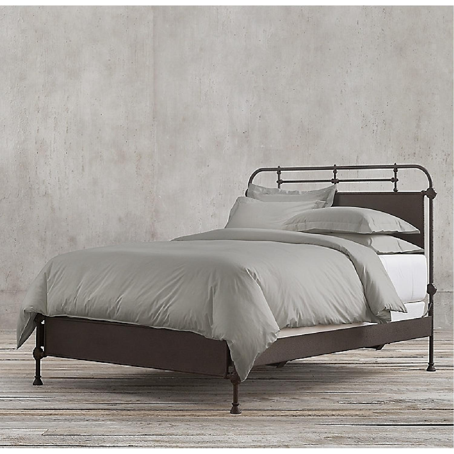 Restoration Hardware French Academie Panel Bed in Rust - image-3