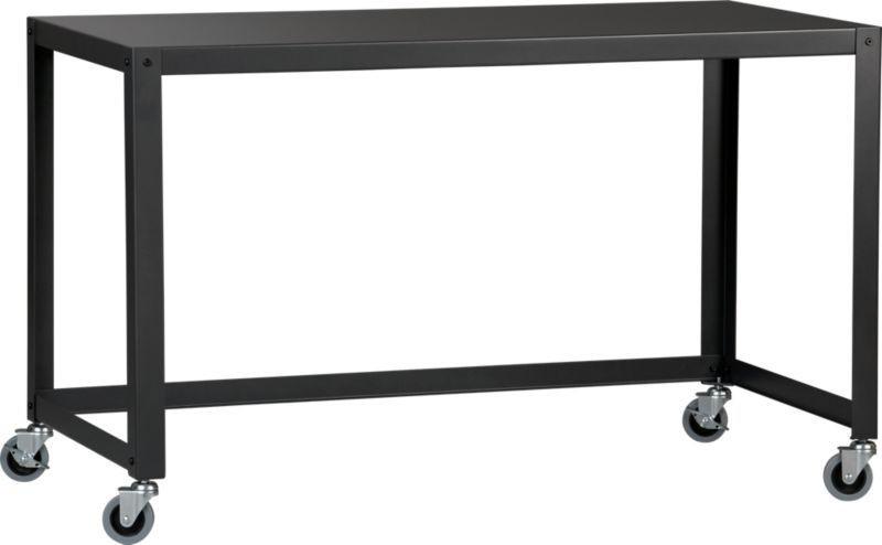 CB2 Go-Cart Desk w/ File Cabinet & Chair