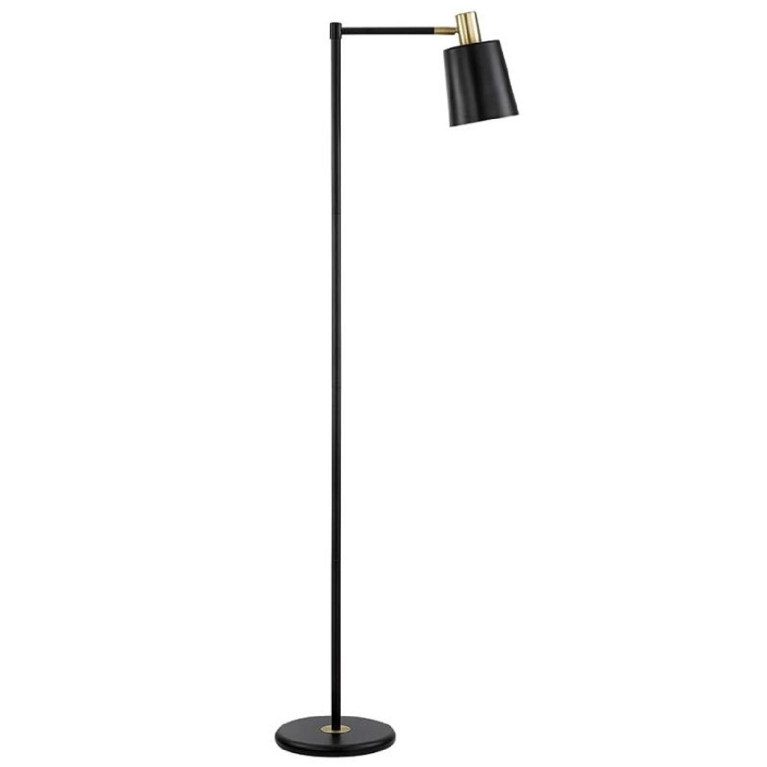 Retro Style Black & Gold Color Floor Lamp - image-2