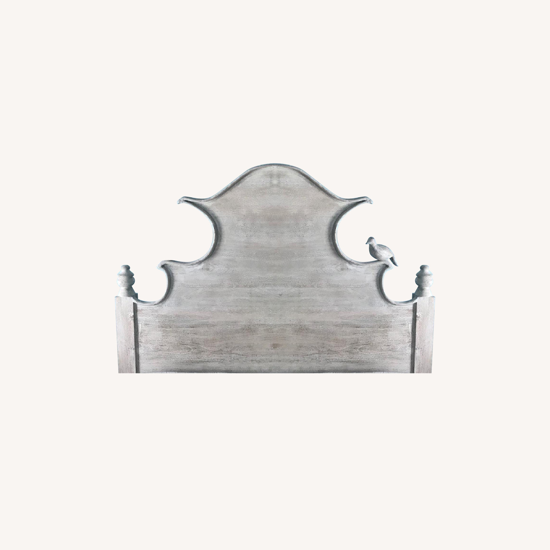 Ballard Designs Whitewashed Queen Headboard