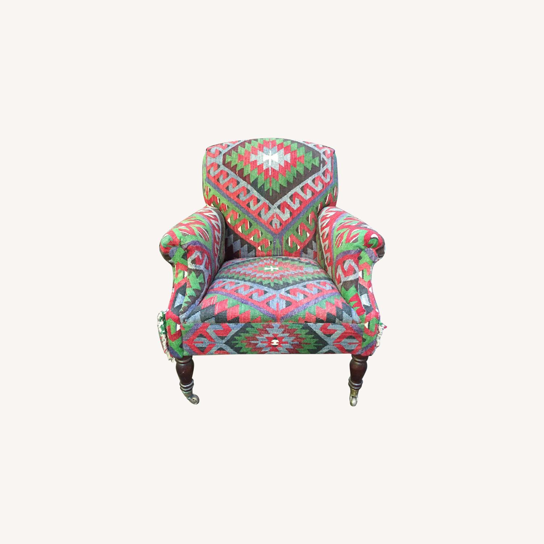 Vintage George Smith Kilim Armchair - AptDeco