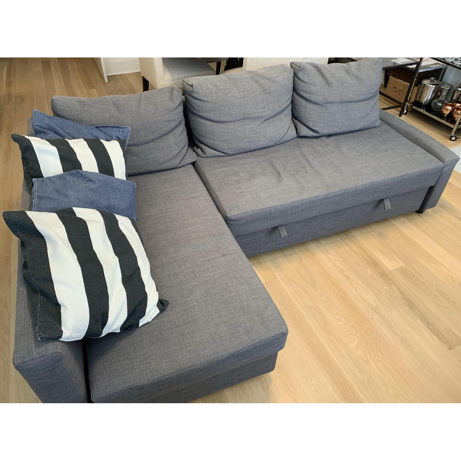 Peachy Ikea Friheten Sleeper Sectional Sofa W Storage In Dark Gray Machost Co Dining Chair Design Ideas Machostcouk