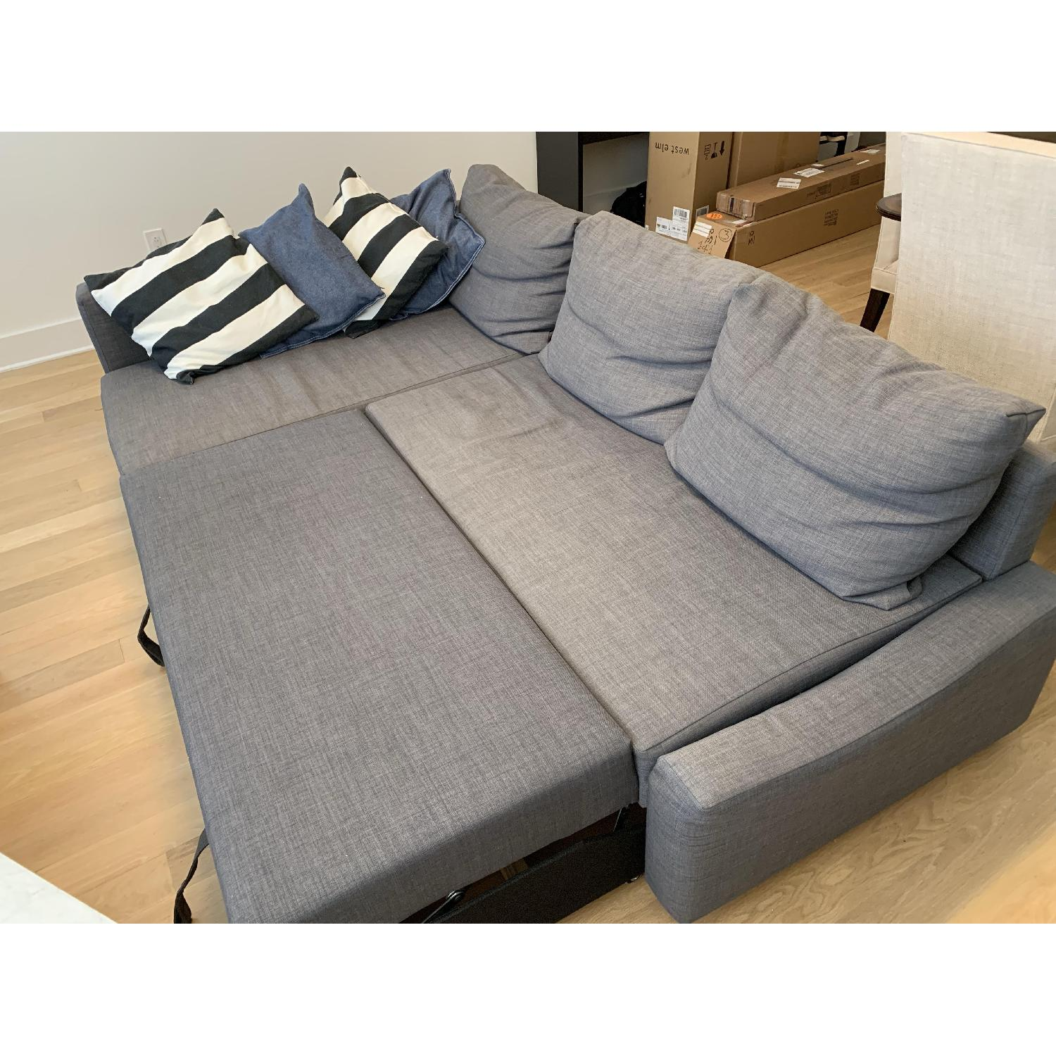 Astonishing Ikea Friheten Sleeper Sectional Sofa W Storage In Dark Gray Machost Co Dining Chair Design Ideas Machostcouk