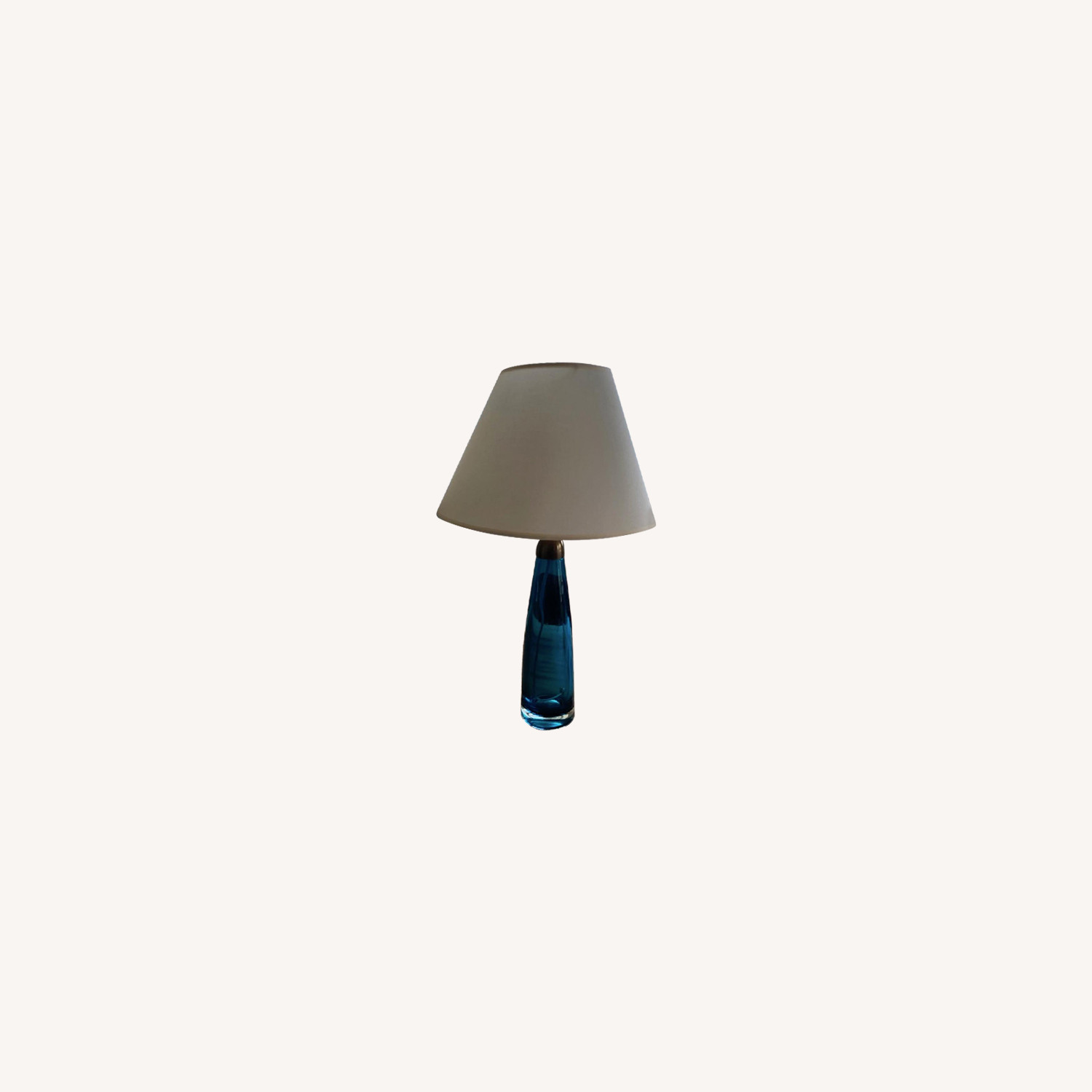 Orrefors 1960 Turquoise Glass Table Lamps